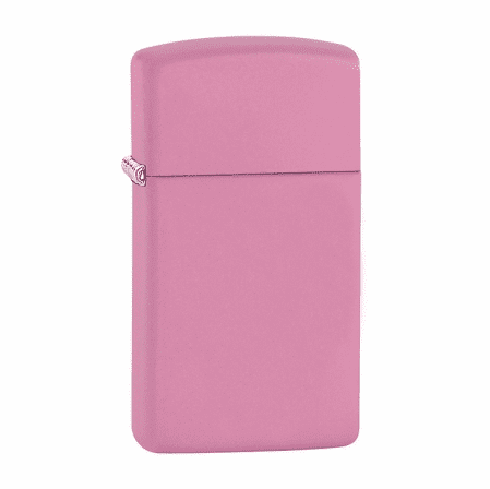 Slim Pink Matte Personalized Zippo Lighter