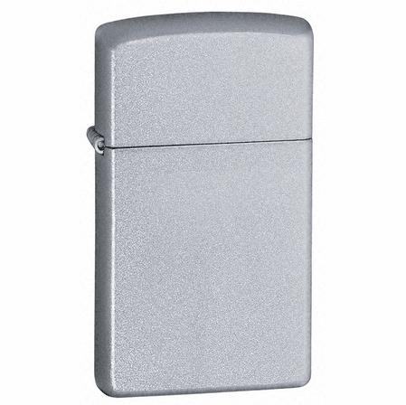 Slim Satin Chrome Personalized Zippo Lighter