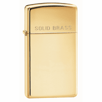 Slim Solid Brass Personalized Zippo Lighter