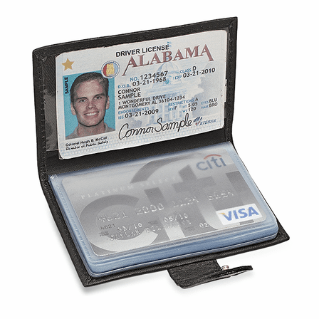 Snap Closing Credit Card Case & ID Holder