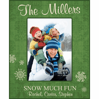 """Snow Much Fun Personalized 5"""" x 7"""" Picture Frame"""
