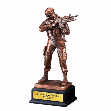 Soldier With Gun Personalized  Award