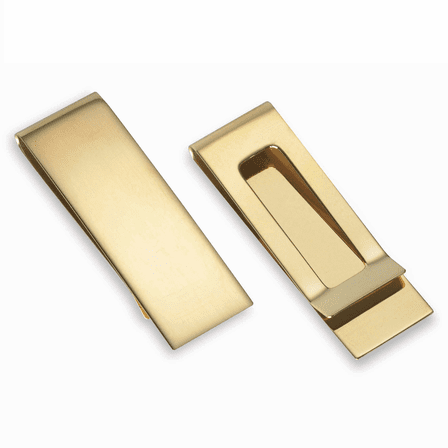 Solid 14 Karat Gold Engraved French Fold Money Clip