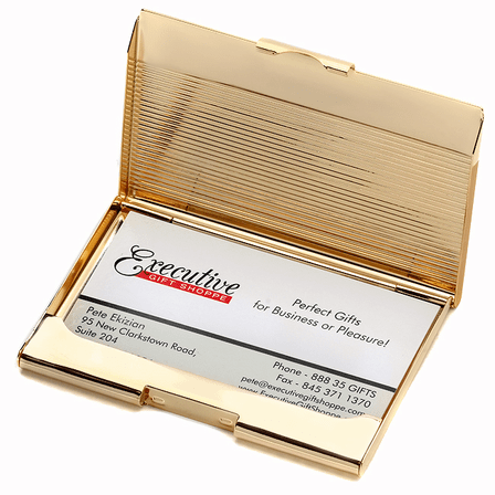Solid Brass Engraved Business Card Case