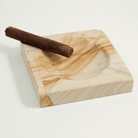 Solid  Marble  Square  Ashtray  -  Tan