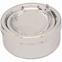 Solid Silver Push Button Opening Ashtray