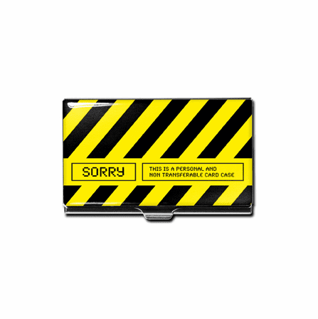 """Sorry"" Business Card Case"