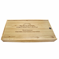 Special Man To Be A Dad Pine Box BBQ Set