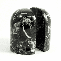 Sphere Black Marble Bookends