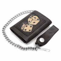 Spinning Dice Trifold Wallet with Chain - Discontinued
