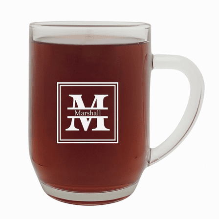 Split Monogram   20 Ounce Barrel Mug with Handle