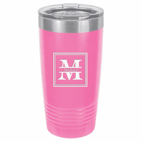 Split Monogram 20 Ounce Pink Polar Camel Travel Mug