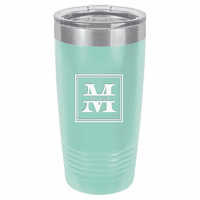 Split Monogram 20 Ounce Teal Polar Camel Travel Mug
