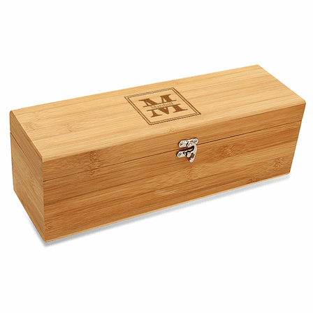Split Monogram  Bamboo Wine Box