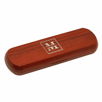 Split Monogram  Cherrywood Double Pen and Box Set