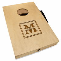 Split Monogram  Mini Cornhole Game