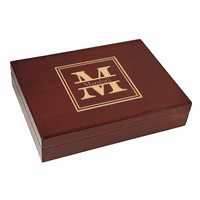 Split Monogram  Piano Finish 30 Cigar  Humidor