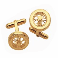 Spoked Wheel Gold Tone Cufflinks