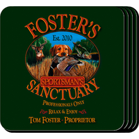 Sportman's Sanctuary Coaster Set - Free Personalization