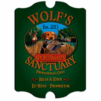 Sportman's Sanctuary Vintage Pub Sign - Free Personalization