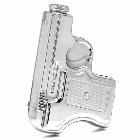 Stainless Steel Pistol Flask With Holster