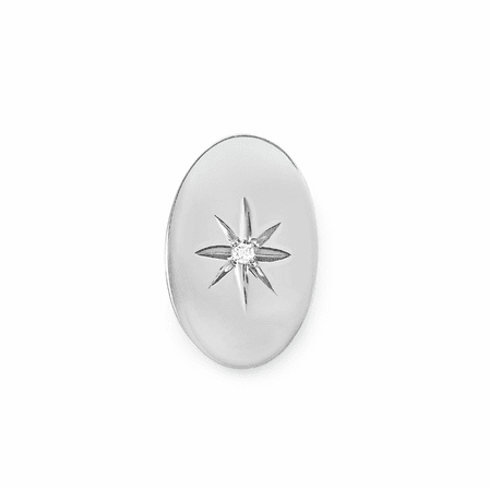 Starburst Collection Sterling Silver Tie Tack with Diamond