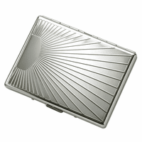 Starburst Design Single Sided Cigarette Case for Kings and 100s