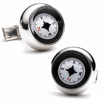 Sterling Silver Compass Cufflinks - Discontinued