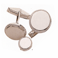 Sterling Silver Cufflink & Stud Set - OUT OF STOCK