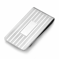 Sterling Silver Extra Wide Framed French Fold Money Clip