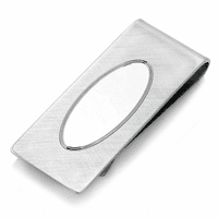 Sterling Silver French Fold Engraved Money Clip