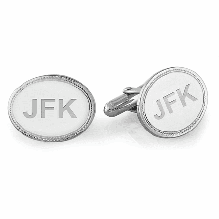 Sterling Silver Mirror Collection Engravable Cufflinks - Discontinued