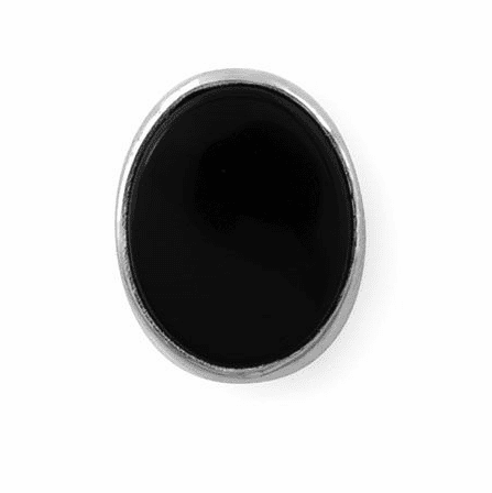 Sterling Silver & Onyx Oval Tie Tack