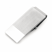 Sterling Silver Textured Money Clip with Hinged Grip - Discontinued