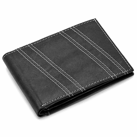 Stitch Collection Bifold Wallet with ID Flap