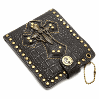 Studded Cross Bifold Wallet