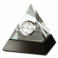 Summit Crystal Pyramid Table Clock by Howard Miller