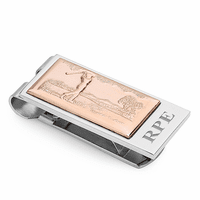 Swinging Golfer Money Clip