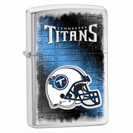 Tennessee Titans NFL Brushed Chrome Zippo Lighter - ID# 28226