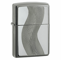 Texas Twist Emblem Black Ice Zippo Lighter - ID# 667