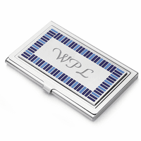 The Azure Stainless Steel Business Card Case