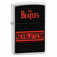 The Beatles Revolution Brushed Chrome Zippo Lighter - ID# 24832-discontinued