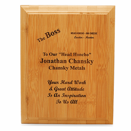 The Boss Bamboo Wall Plaque