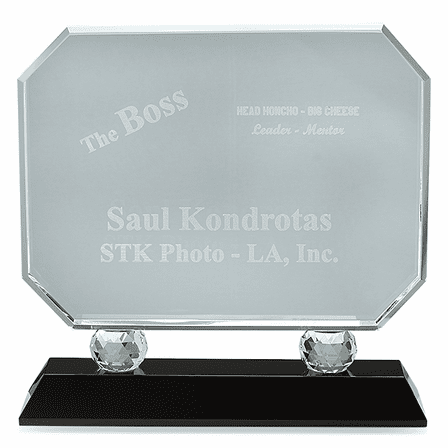 The Boss Crystal Award With Black Base