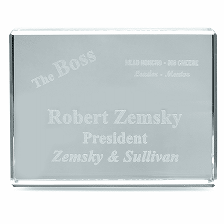 The Boss Crystal Paperweight