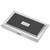 The Carbon Stainless Steel Business Card Case