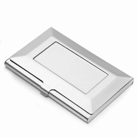 The Frame Engraved Steel Business Card Holder Executive Gift Shoppe