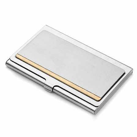 The Frontier Stainless Steel Business Card Case