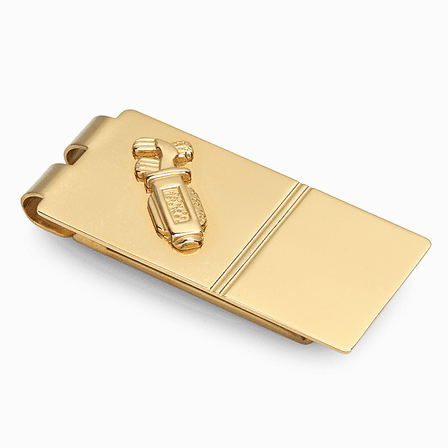 The Golf Bag Golf Engraved  Money Clip - Discontinued