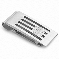 The Grill Monogrammed Spring Loaded Money Clip